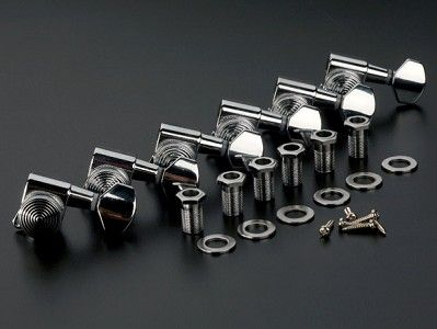 Now STAGGERED!  Gotoh style Locking Tuners- Sperzel Style String Lock-