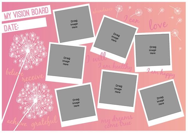 Vision Board Template The Simple Way To Make It Happen In 2021 Vision Board Template Vision Board Visual Goal Board