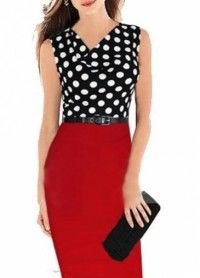 Chic Cowl Neck Sleeveless Sheath Dress with Belt - Online Shop! : Online Shop!