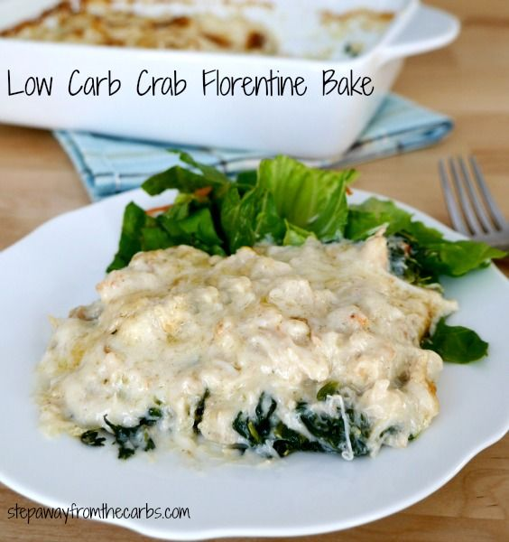 Low Carb Crab Florentine Bake - filling, comforting and delicious!