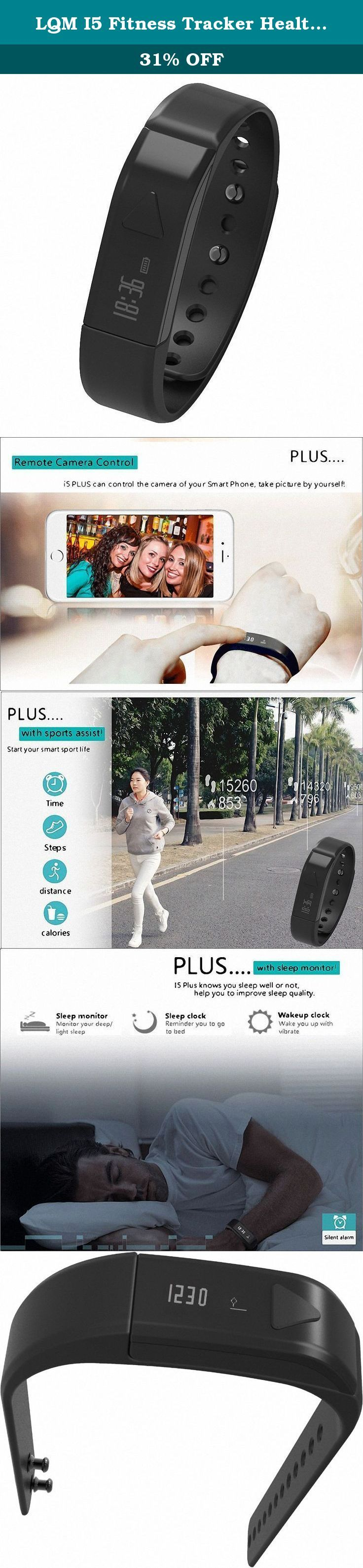 LQM I5 Fitness Tracker Health Smart Bracelet Sleep Monitor Bluetooth Pedometer Sport Wristband TPF PC Material(Black). App Download Guide Video:https://youtu.be/sZEahb5bWGI APP Video: https://youtu.be/ArM28FdkUVo Basic parameters Dimensions: 69.1*15.8*11.2mm Net Weight: 18g Key life: more than 10,000 times Control: Key operation / Key switch Power and battery Lithium ion polymer battery 40mAh Battery life time up to 4~6 days USB charge: Full charge only need 30 minutes Senor and interface...