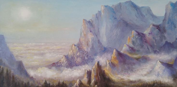 Buy Sea of clouds (15x30x1.5''), Oil painting by Alexander Koltakov on Artfinder. Discover thousands of other original paintings, prints, sculptures and photography from independent artists.