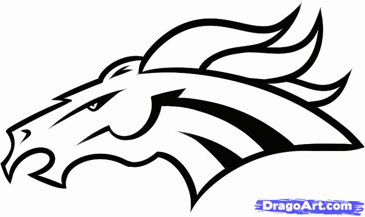 28 Denver Broncos Coloring Page in 2020 (With images ...