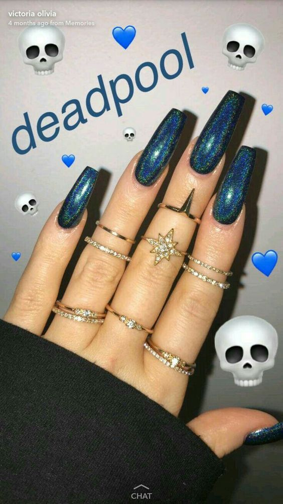 60 Cute Coffin Nails Colors Designs – Nägel/Make–up