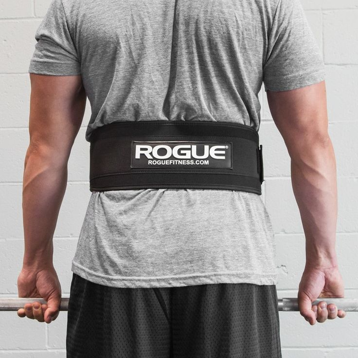 "Rogue 5"" Nylon Weightlifting Belt. I think these are rebranded Harbinger belts. Anyways, good enough for Metcons or your 1RMs."