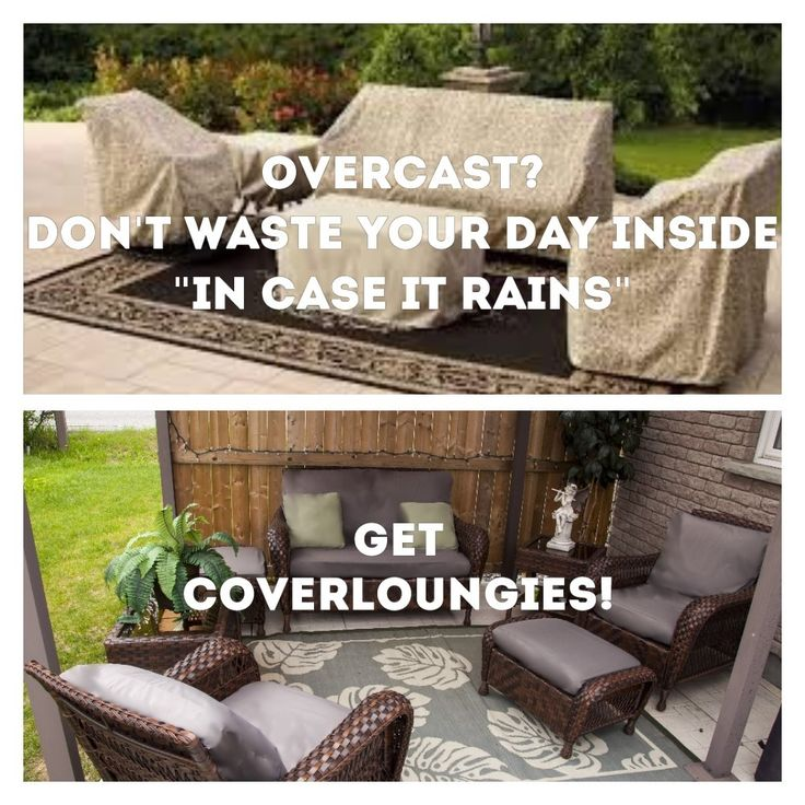 Furniture is protected and can still be used with CoverLOUNGIES©