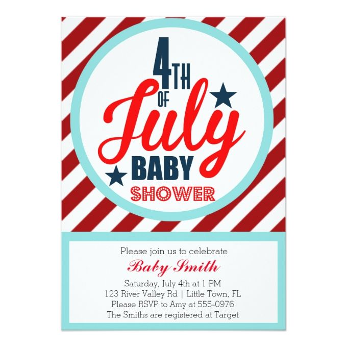 810 best patriotic invitations images on pinterest invitation fourth of july baby shower card stopboris Image collections