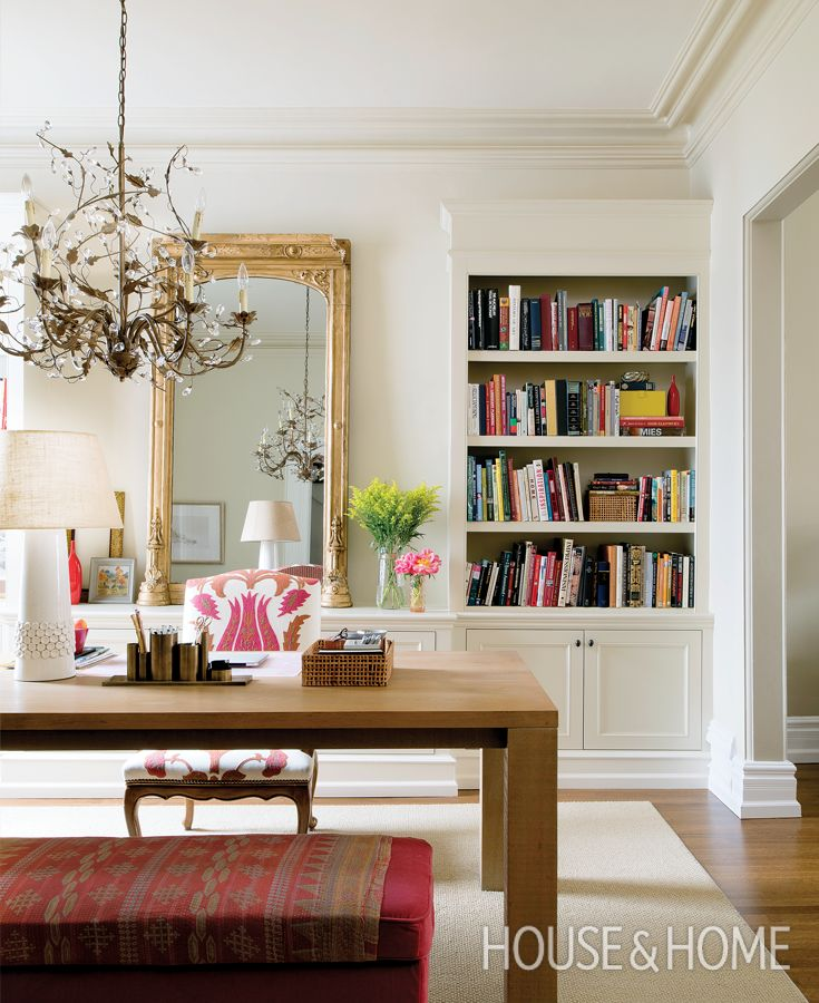 A Double-Duty Dining Room And Home Office | Learn how to use one room two different ways: http://houseandhome.com/tv/segment/double-duty-dining-room-and-office