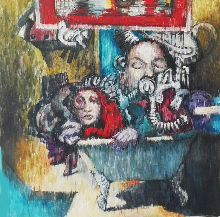 acrylic on canvas 87x87cm