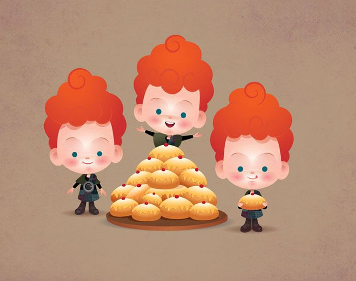 My cutesy-pie take on Harris, Hubert and Hamish - the Triplets from DIsney Pixar's BRAVE.