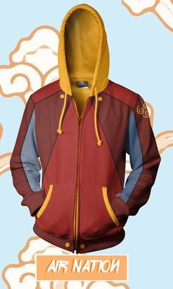 Air Nation Hoodie - Coyote Pop Clothing  http://prathik.deviantart.com/art/Avatar-Hoodies-Last-Airbender-Legend-of-Korra-493494837