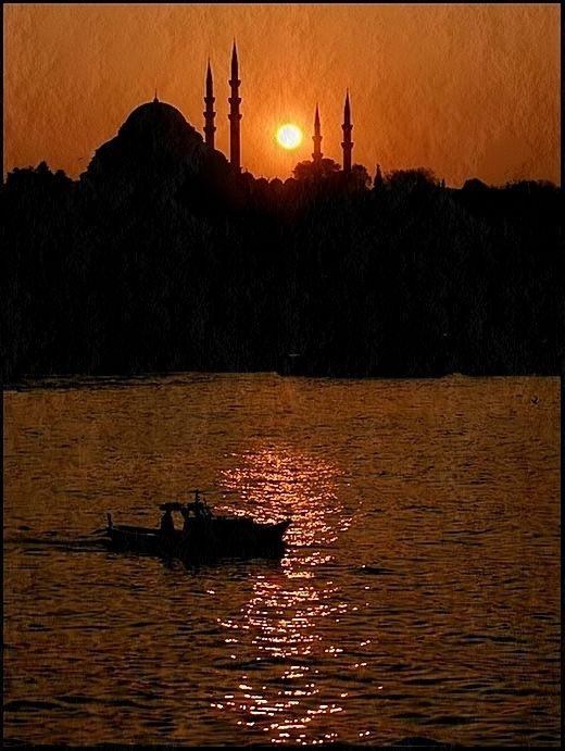 Sunset in Süleymaniye, Istanbul