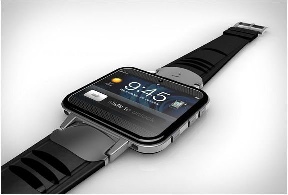 IWATCH2 | BY ANTONIO DEROSA | Sometime ago we featured the creative work of Antonio DeRosa, the iCam, a very good looking camera concept. Antonio has come up with another genius design, the iWatch2, a concept for the long awaited iWatch. The visionary concept features 32GB memory, wiFi and bluetooth connections to the iPhone/iPad, face camera, and an LCD projector. Let´s hope that Apple picks up on this concept.