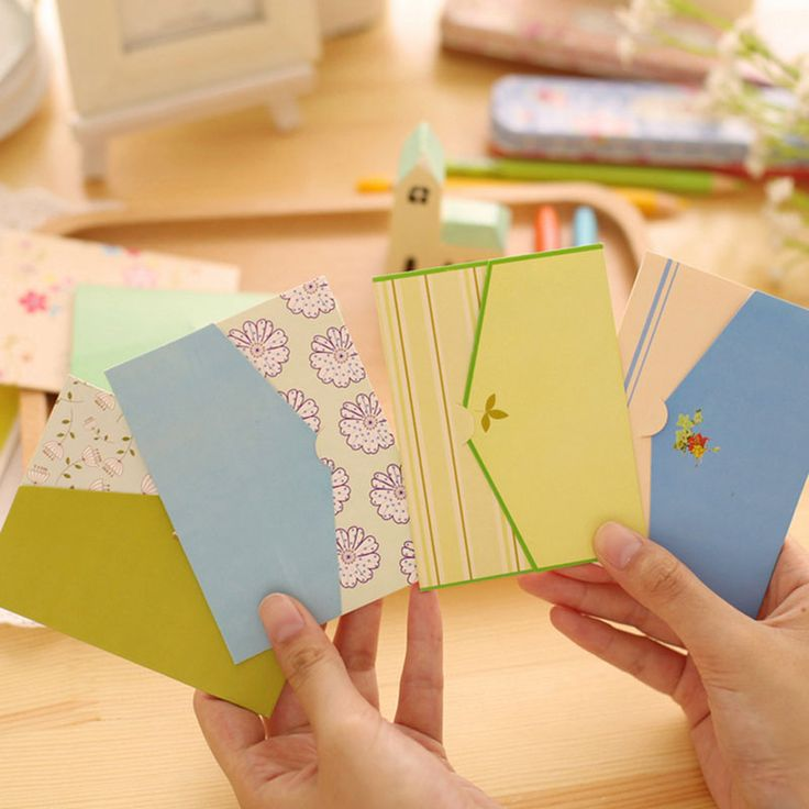 6 pcs/set Rural style envelope Greeting message card Christmas birthday wedding New Year party Gift card holiday Universal
