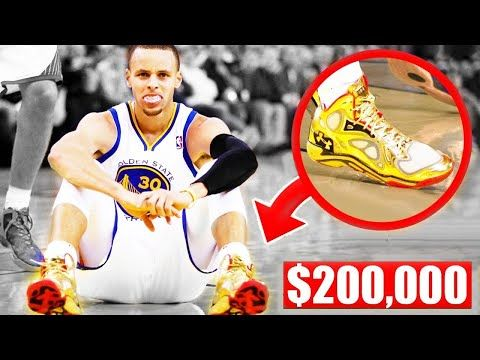 ff584def5 The Most Expensive Shoes Worn In An NBA Game - Stephen Curry | LeBron James  | Kobe Bryant - YouTube