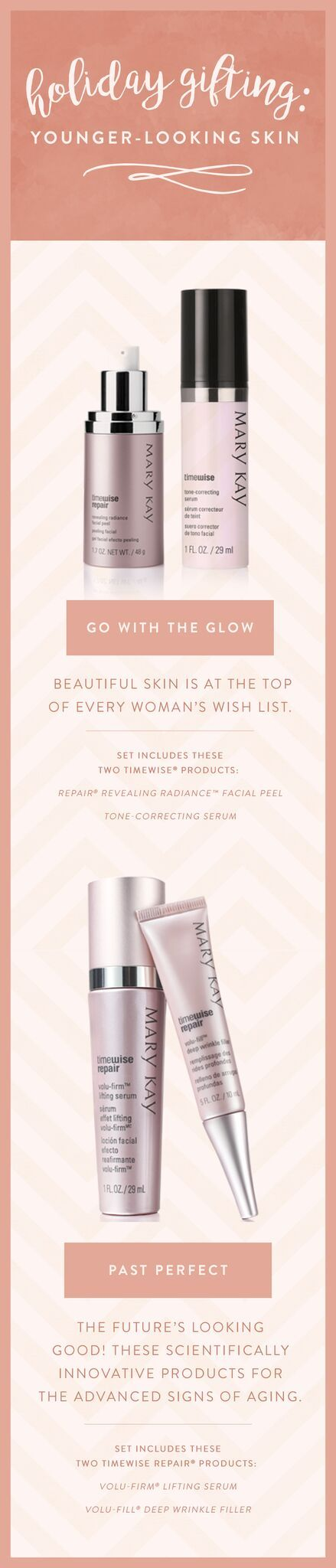 Go with the glow this holiday season! Give your mother, daughter or best friend the gift of younger-looking skin. | Mary Kay