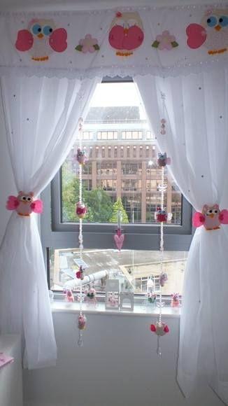 17 mejores ideas sobre cortinas para dormitorio en - Cortinas infantiles nina ...