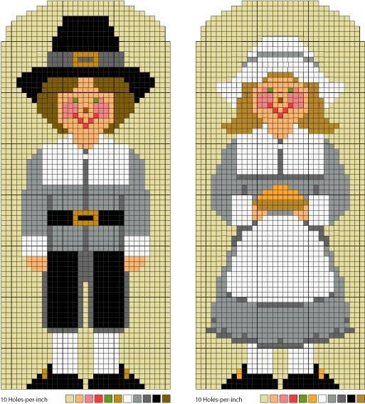Figures Pilgrim Boy And Girl Stitches Boys And Girls