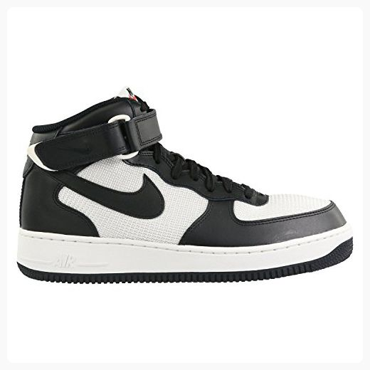 NIKE Nike Men s Air Force 1 Mid 07 Basketball Shoe Midnight Black Black Summit White 12 Hot Sale Online