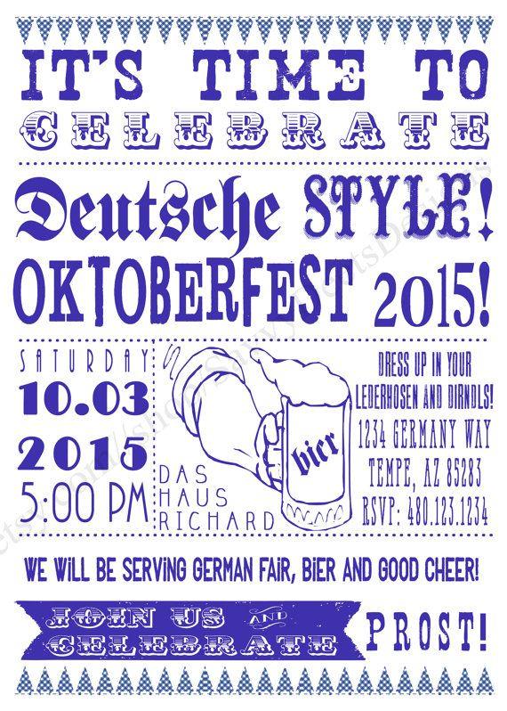 best 25  oktoberfest invitation ideas on pinterest