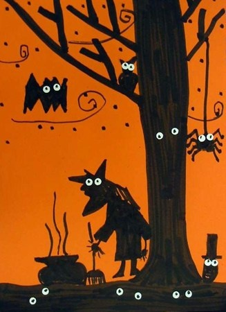 contrasted spooky silhouettes - to go along with silhouette projects