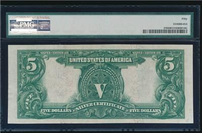 Dazzling AC Fr 278 1899 $5 Silver Certificate PMG 50 CHIEF NOTE https://www.paper-money-collector.com/product/ac-fr-278-1899-5-silver-certificate-pmg-50-chief-note/ #Paper #Money #UnitedStates #Silver
