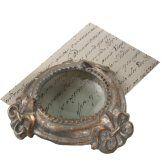 Midwest-CBK Antique Silver Fleur De Lis Magnifying Glass