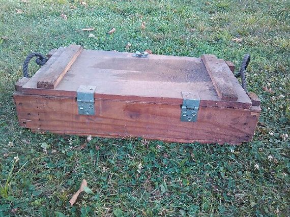 Antique Military Ammo Box  Historical Antique box by tunero