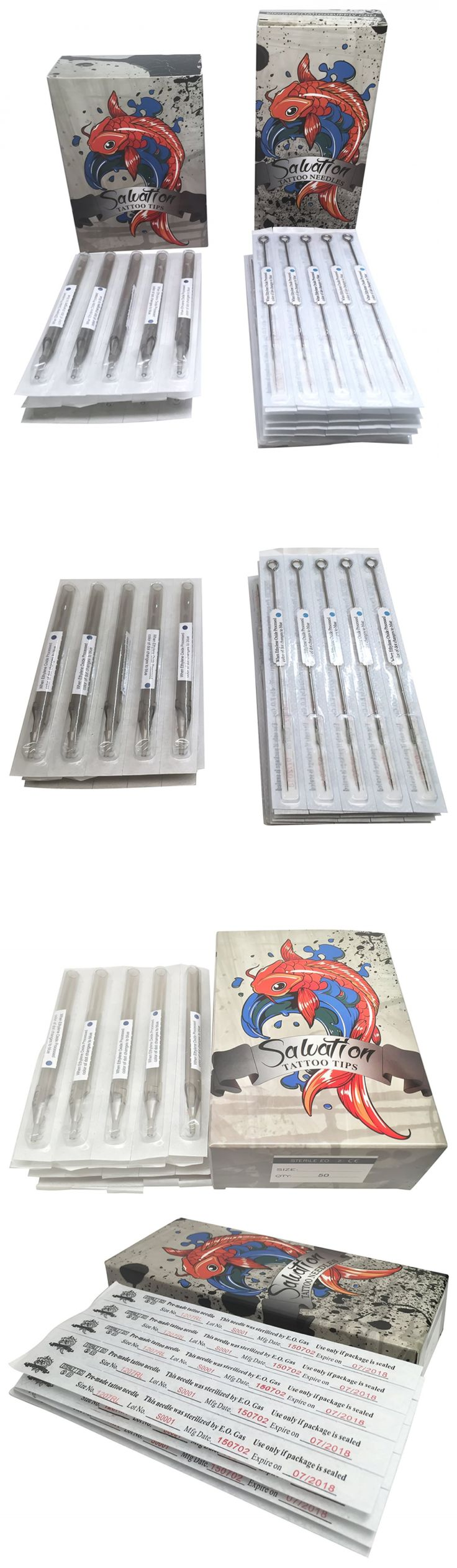 Tattoo Needles Grips and Tips: Tattoo Needles And Tubes Combo - 100 Pcs Each - Assorted Needle Box And Disposab -> BUY IT NOW ONLY: $35.62 on eBay!