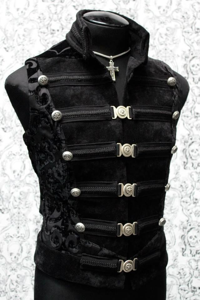 DOMINION VEST - BLACK VELVET, this would go awesome with my masquerade mask