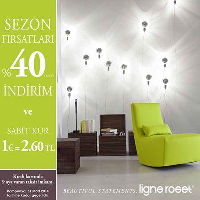 Ligne Roset' den Sezon Fırsatları ! http://www.ligneroset.com.tr/