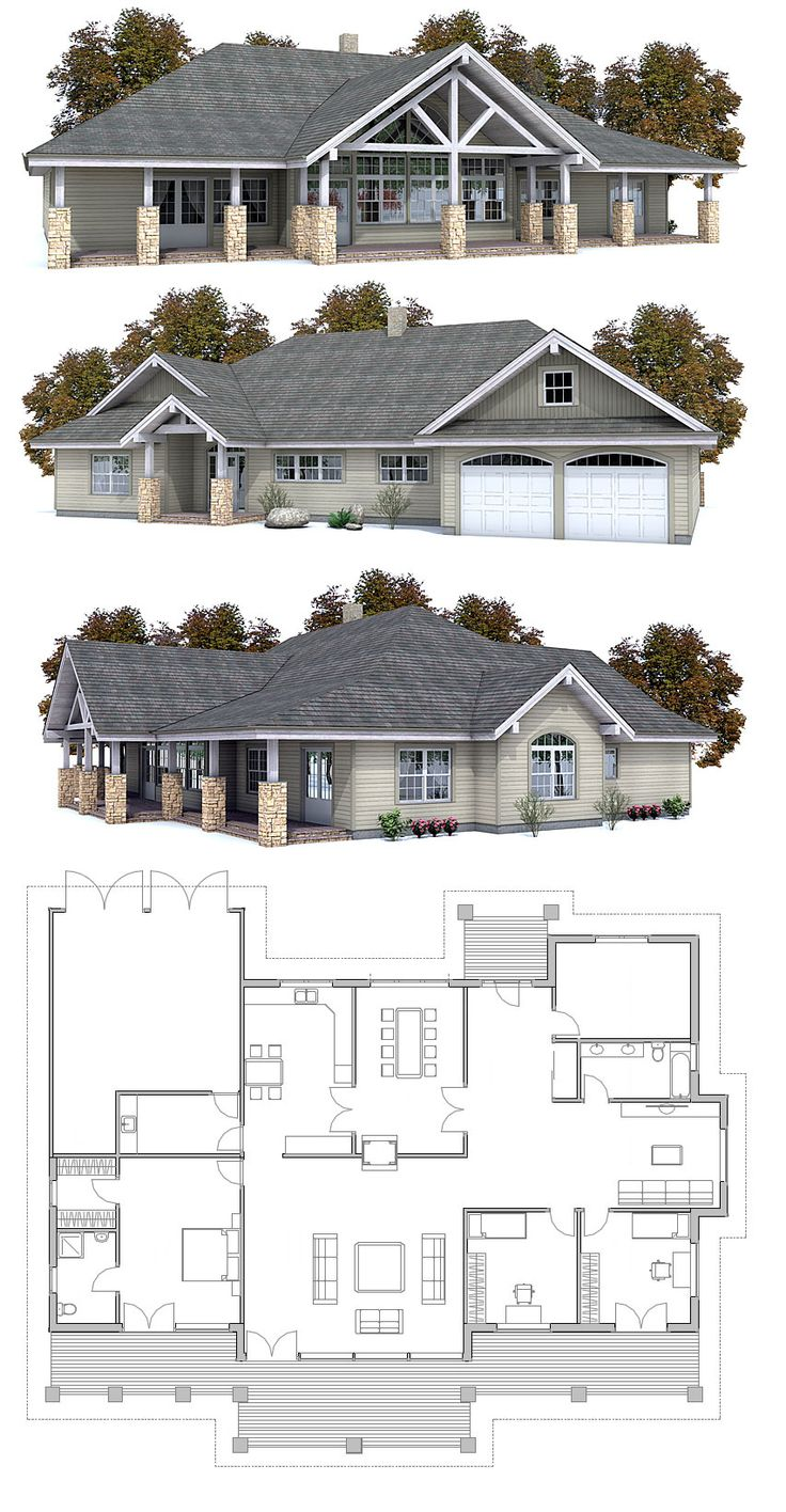 House Plan Floor Plans Exterior Pinterest