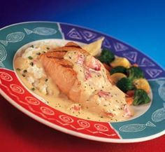 Red Lobster Restaurant Copycat Recipes: Salmon with Lobster Mashed Potatoes