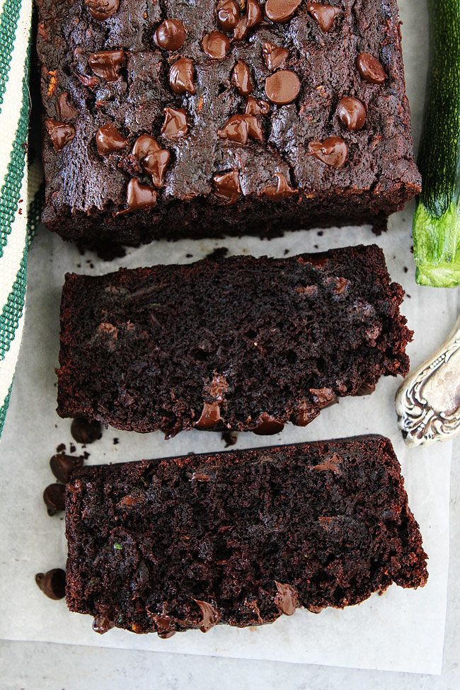 Chocolate Chocolate Chip Zucchini Bread Recipe - two peas and their pod