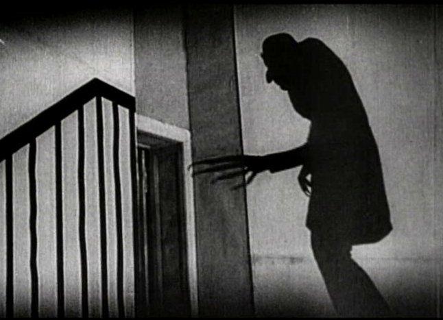 one of the many iconic shots in Murnau's Nosferatu.