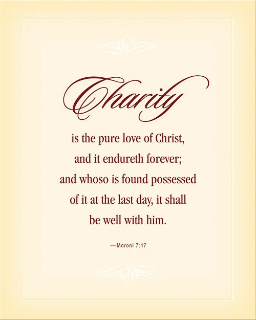 pure love of Christ from the Book of Mormon, another testament of Jesus Christ