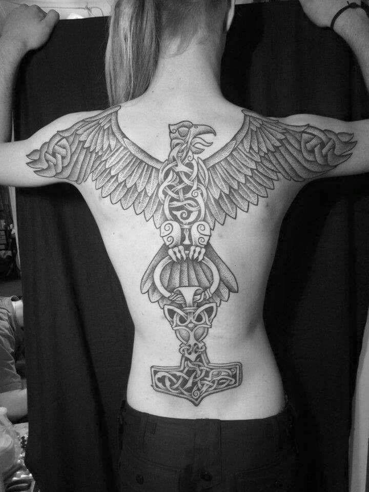 viking #eagle #mjolnir #tattoo #thor #bloodeagle | tatoo/ henna