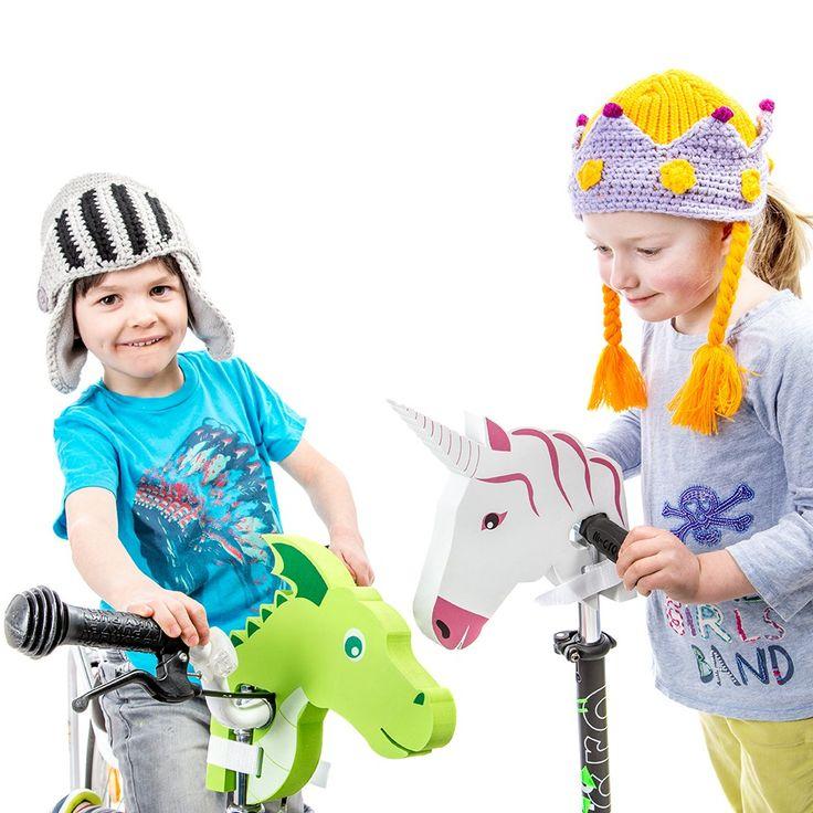 Een ezel op twee wielen, een vliegende draak of een eenhoorn! Iedereen kijkt zijn ogen uit als ze de dierenkop op je fiets zien zitten. Een echt cool cadeau-idee waar kinderen uren lang fietsplezier aan beleven!