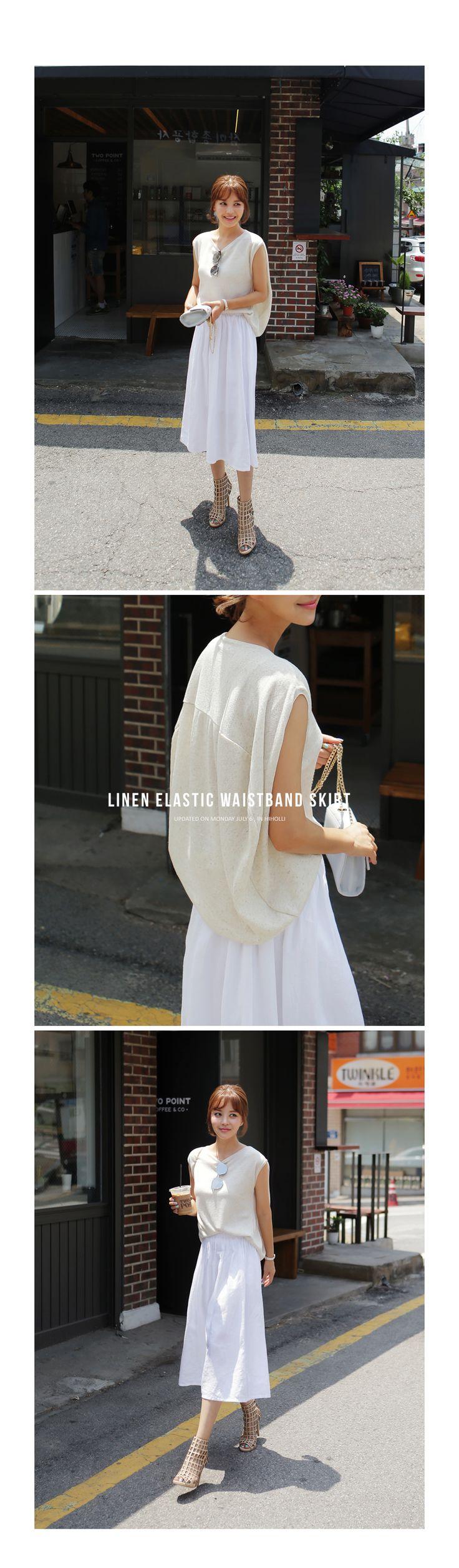 ウエストゴムリネンフレアスカート・全3色ワンピース・スカートスカート|大人のレディースファッション通販 HIHOLLIハイホリ [トレンドをプラスした素敵な大人スタイル]