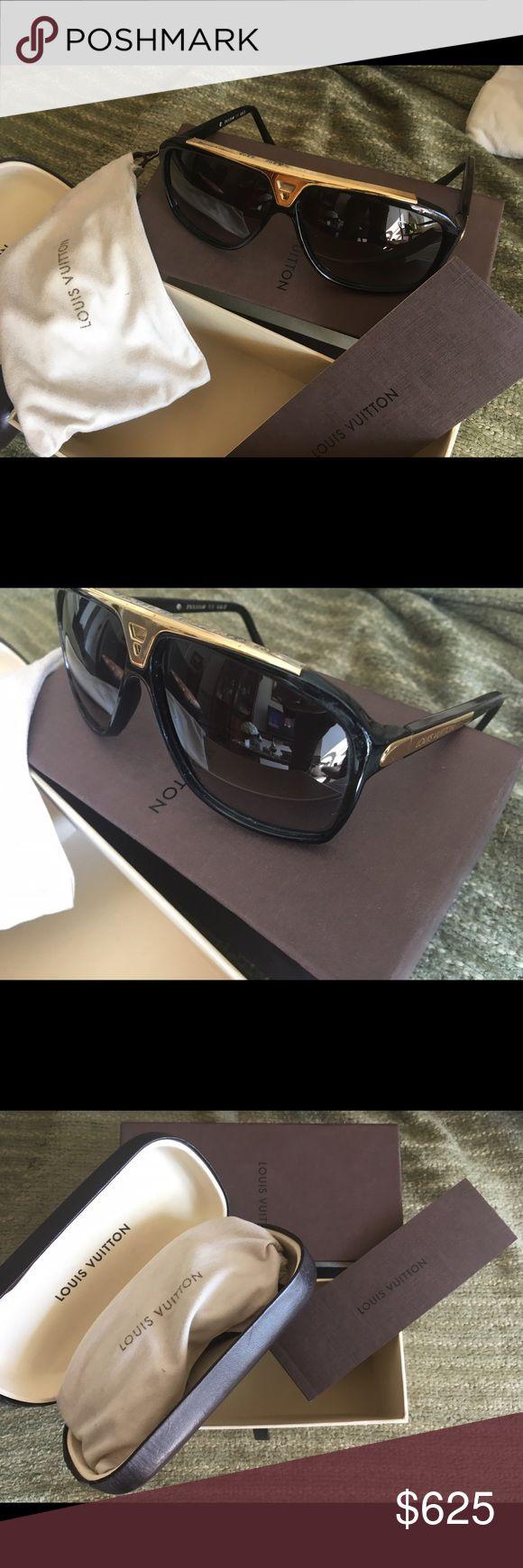 Louis Vouitton Sunglasses Designer UNISEX Sunglasses used once. Louis Vuitton Accessories Sunglasses