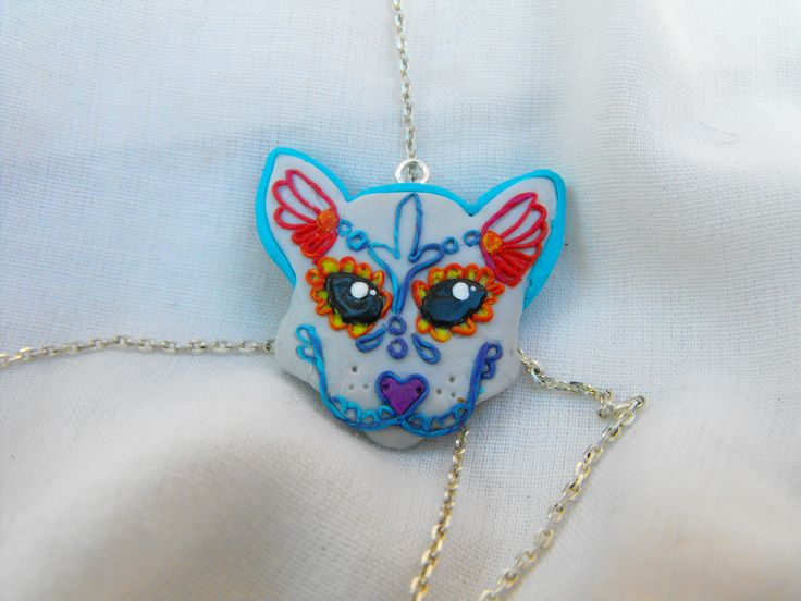 cat mexican skull style