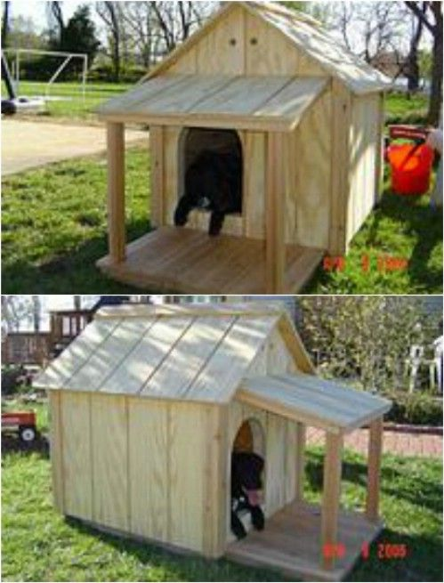 15 Brilliant DIY Dog Houses With Free Plans For Your Furry Companion     15 Brilliant DIY Dog Houses With Free Plans For Your Furry Companion    Doggie   Pinterest   Dog houses  Traditional and Dog