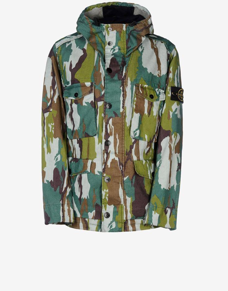 43564 FLOWING CAMO WATRO Jacket Stone Island Men -Stone Island Online Store