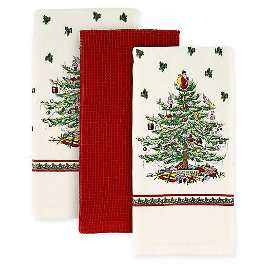Spode Christmas Tree By Avanti Kitchen Towels Set Of 3 Spode