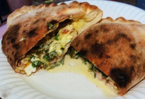 Breakfast Calzone from Diablos Oven!!