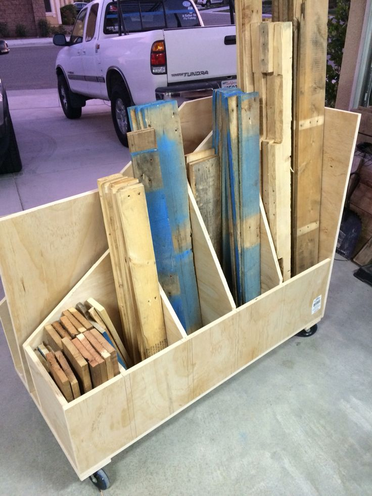 1000 images about lumber storage on pinterest dust for Rolling lumber cart plans