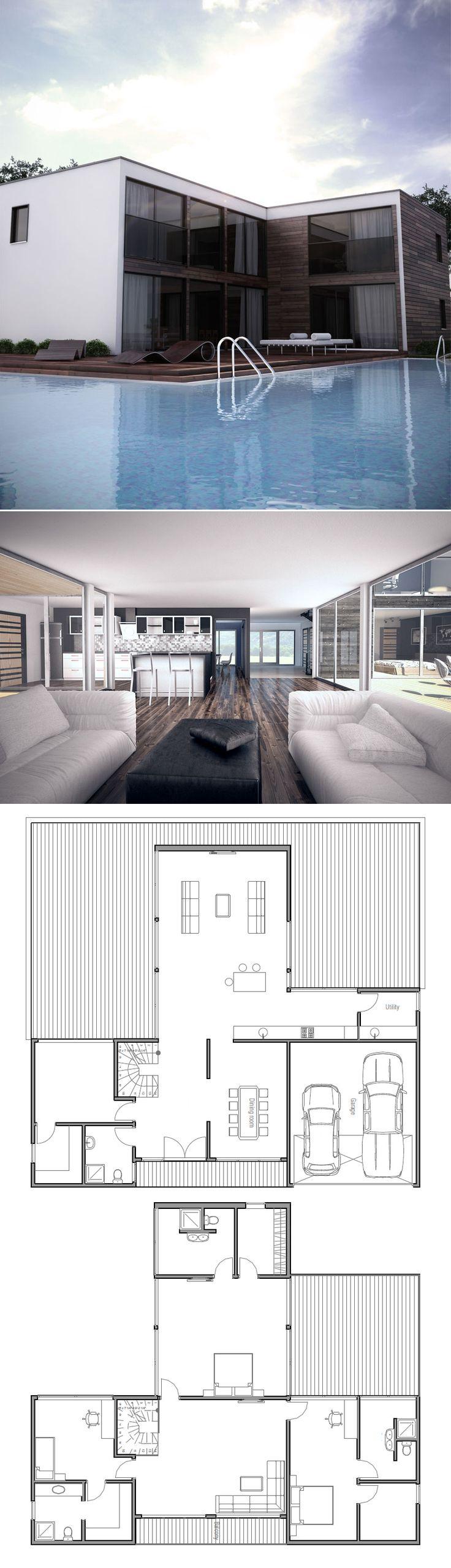 Минималистический дом, современная архитектура