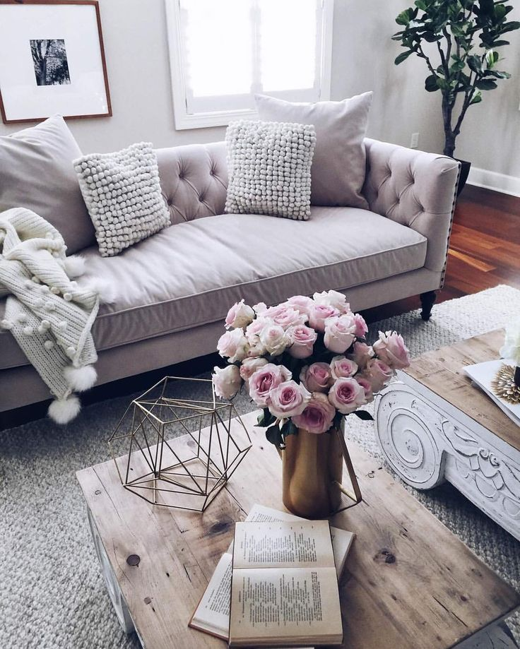 How To Make Your Apartment Look 10x Bigger Romantic Living RoomLiving Room GreyPink RoomsLiving