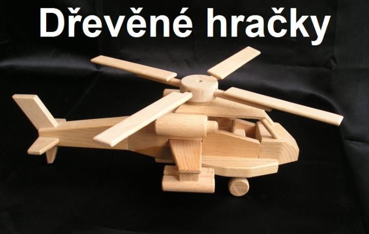 US bojová helikoptéra Apache. Dřevěná pohyblivá hračka české výroby. skladem k dodání www.soly.czDřevěné hračky