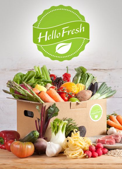 A box delivered with ingredients for 3 or 5 meals for 2 or more people - great for new ideas in the kitchen. https://www.hellofresh.co.uk